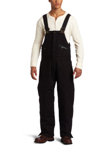 Overall Bib Key - Key Apparel Men's Insulated Duck Bib Overall, Black, Large-Regular