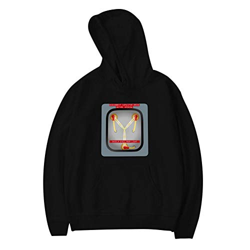 Aharyoa Youth Hoodies,It's What Makes Time Travel Possible Fashion Printed Plush Pocket Sweater,Soft and Warm for Boy Girl M Black ()
