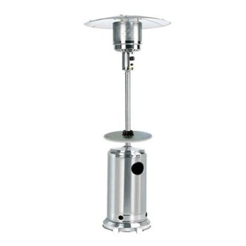 Garden Sun GS4100SS Floor Standing 41,000 BTU Propane Powered Patio Heater With Push Button Ignition with Built In Table