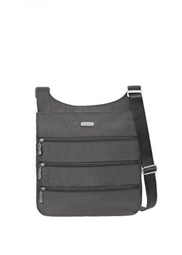 Baggallini Big Zipper Travel Crossbody Bag, Charcoal