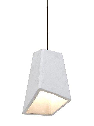 Besa Lighting 1XT-SKIPWH Skip - One Light Pendant with Flat Canopy, White Shade