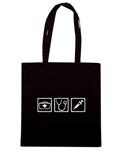 Shopper NURSE Speed Shirt DOCTOR Borsa WES0970 Nera RqRgwHEP