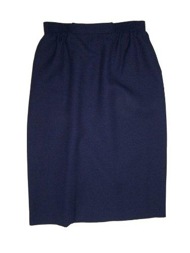 Alfred Dunner Women's Classics Elastic Waist Straight Skirt 9120-NAVY-12P