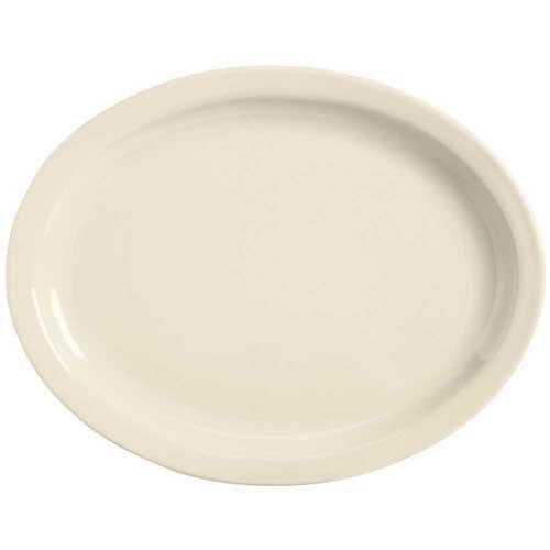 World Tableware Tenacity Narrow Rim Cream White Platter, 11.5 inch - 12 per case. Cream White Narrow Rim