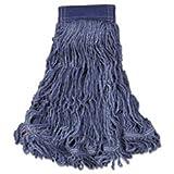 Rubbermaid Commercial C154BLU Swinger Loop Wet Mop Head, X-Large, Cotton/Synthetic, Blue, 6/Carton