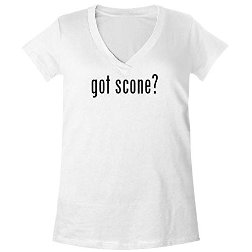 The Town Butler got Scone? - A Soft & Comfortable Women's V-Neck T-Shirt, White, -