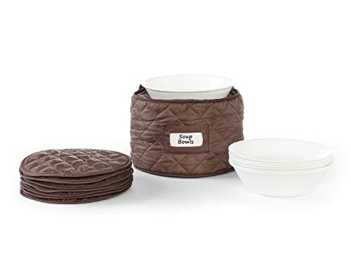 Covermates – Round Soup Bowls Storage 10 DIAMETER x 7H – Diamond Collection – 2 YR Warranty – Year Around Protection - Bronze