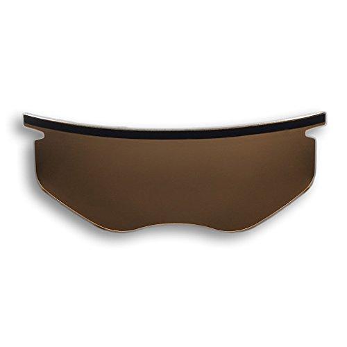 (Polar-Optics FlexFit Shield Removable Bicycle Helmet Visor Polarized 100% UV Blocking (Vivid))