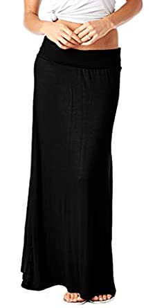 Popana Super Soft Fold Over Maxi Skirt - Made in USA at Amazon ...