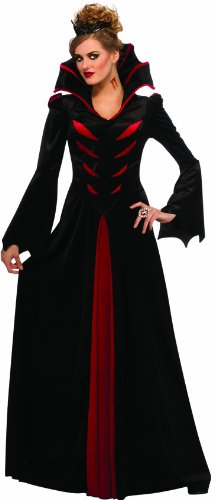 Family Vampire Costumes (Rubie's Costume Halloween Sensations Queen Of The Vampires Adult Costume, Black, Standard)
