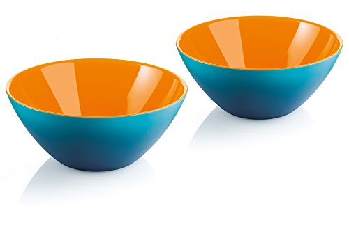 Guzzini My Fusion Small Bowls, Set of 2, BPA-Free Shatter-Resistant Acrylic, 4-3/4