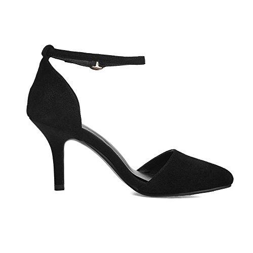 Sandali Con Fibbia In Pelle Scamosciata Con Cinturino In Camoscio
