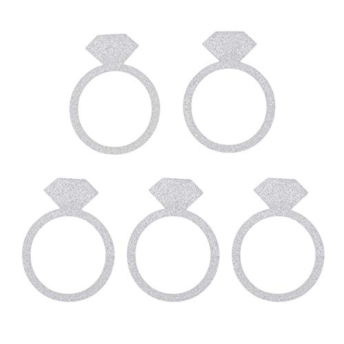 (50 Pcs Cake Toppers Diamond Ring Patterned Cake Fruit Picks Dessert Table Decorative Supplies)