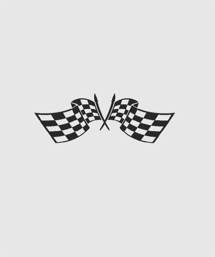 - Checkered Auto Race Crossed Car Flags Go Kart NASCAR Mens Racing Sports Speed Thrill - Peel & Stick Sticker - Vinyl Wall Decal - DISCOUNTED SALE PRICE Size : 14 Inches X 28 Inches - 22 Colors Available