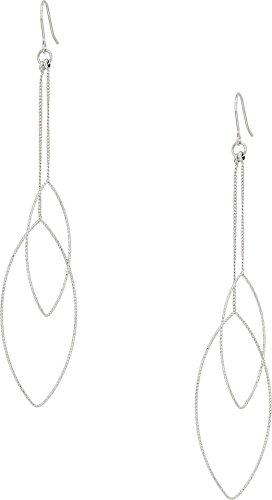 Kenneth Jay Lane Women's Silver Chain And Double Teardrop Fishhook Earrings Silver One - Hook Chain Earrings