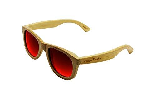 Gafas Cálida Brisa efecto ecofriendly a Mujer lente Bambú espejo Wayfarer de hechas Pirata Estilo Sol Unisex y Polarizadas Hombre Moda mano de Madera Nación gq5BCwn