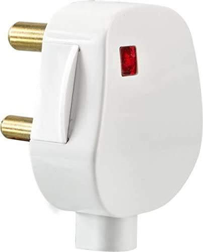 694aca62986 Buy GIRISH Wisdom Polycarbonate 16A 3 Pin Plug (White) - Pack of 10 ...