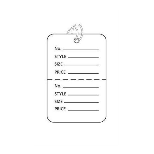 Pack of 1000 New Retails White Small Strung Price Tags 1¼â€w X 1?â€h