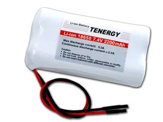Tenergy 7.4V Li-ion 18650 2200mAh Rechargeable Battery Module with - Li De Pack