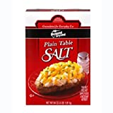 Diamond Crystal Plain Table Salt - 4 lb. box, 12 per case