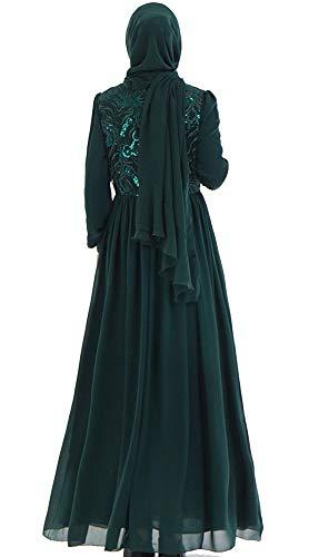 Heng Yi Lunga Scuro Manica Vestito Verde Donna Mei gqBwBd