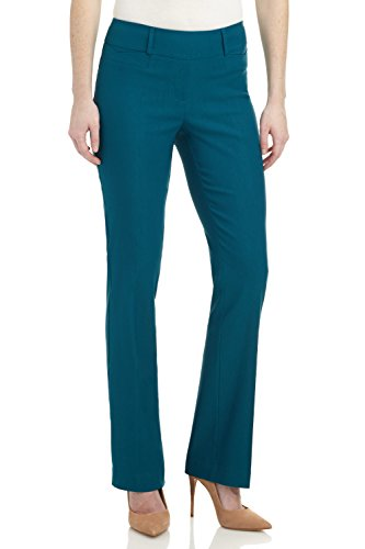 Rekucci Women's ''Ease In To Comfort Fit'' Barely Bootcut Stretch Pants (14,Teal) by Rekucci