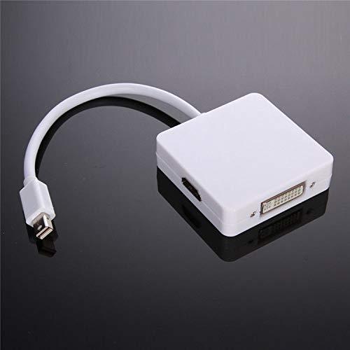 Konverter Videoadapter f/ür Apple Mac Book Air and Mac Shuangyu 3in1 Mini DP DisplayPort zu VGA Mac Book Pro iMac DVI Adapter HDMI