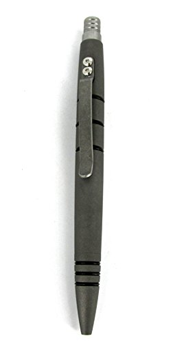 Tuff-Writer Mini Click Series Tactical Pen Blasted Titanium by Tuff-Writer