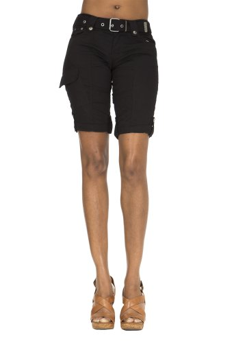 Classic Designs Stretch Poplin Bermuda Shorts w/ Woven Belt