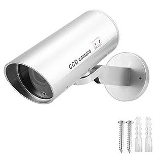 BTIHCEUOT CCTV Camera Security CCD Camera Rotating Fake Dummy Bullet Cam for Surveillance System