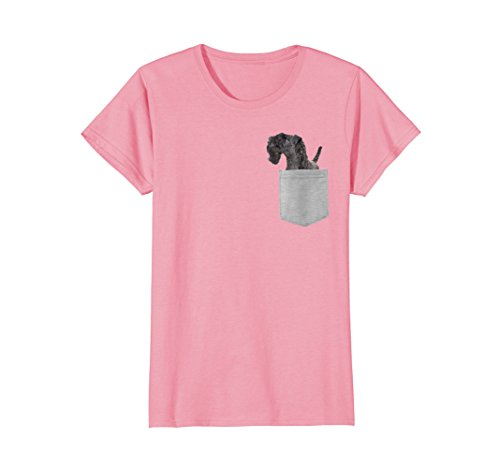 Womens Dog in Your Pocket Kerry Blue Terrier t shirt shirt Large Pink