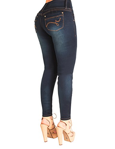 Curvify 837 Butt Lifting Jeans | Jeans colombianos Levanta Cola (8, Natty Blue, 3252AA) (Pantalon Jeans)