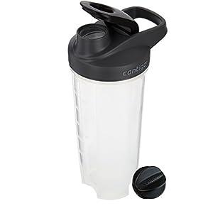 Contigo Shake & Go Fit Shaker Bottle, 28oz, Black