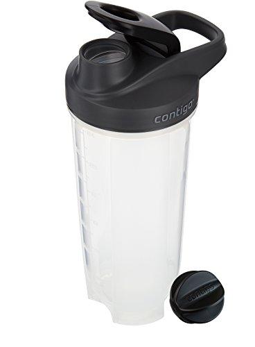 Contigo Shake & Go Fit Snap Lid Shaker Bottle, 28 oz, Black