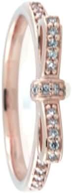 Pandora Sparkling Bow Ring, Pandora Rose, Clear CZ 180906CZ-54 7 US, 54 Euro