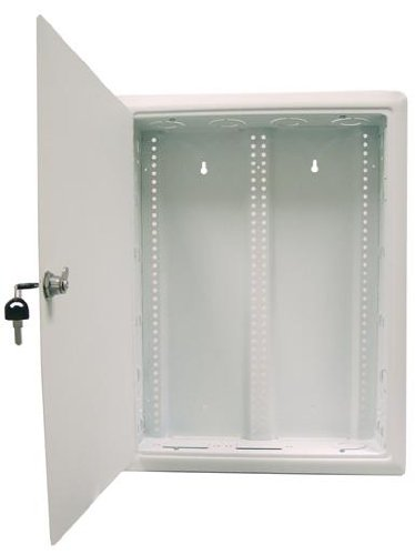Morris Products 87106 Home Network Enclosure, Hinged Door, Large Flush Surface, 14.4'' Width, 21.3'' Height, 3.7'' Depth