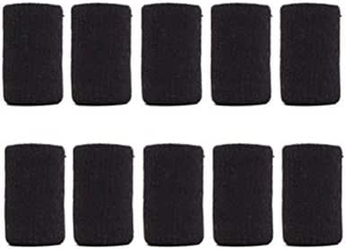 Healifty Sports Sleeves 10 Pieces Finger Sleeves Thumb Braces Support Elastic Compression Protector Braces for Sports Relieving Pain Calluses Arthritis(Black)
