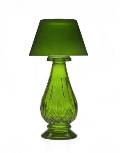 Studio Home Green Glass Tea Light Lamp with Shade (Tea Light Lamp With Shade)
