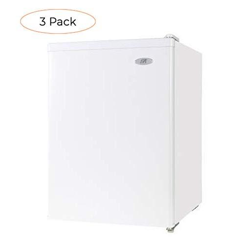 SPT RF-244W Compact Refrigerator, White, 2.4 Cubic Feet (Thrее Расk)