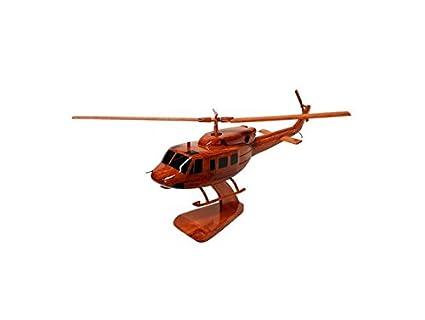 Bell 212 Twin Huey helicóptero de transporte – Civilian – Maqueta (madera de caoba)