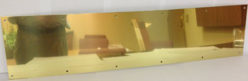"Don-Jo 90 Metal Kick Plate, Brass Tone Finish, 36"" Width x 10"" Height, 3/64"" Thick"