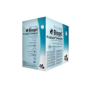 Biogel PI Indicator SZ 8.0, Blue Synthetic Surgical Glove Combined with the Biogel PI Overglove 41680 Qty 50 Per Box