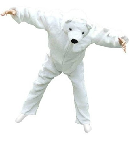 Fantasy World Adults Polar Bear Costume 8-10 / M F24 - Safari Outfits For Adults
