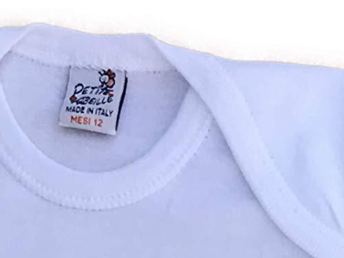 Made in Italy-4 Body per Neonato con Manica Corta in Caldo Cotone(Bianco o Fantasia) 5