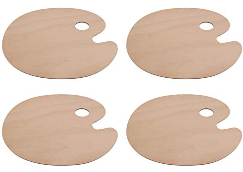 Tebery Oval Shaped Wooden Palette 11.75