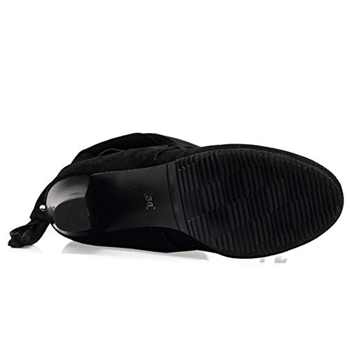 Melady Knee On Boots Women Heels Black Casual Pull UUq7zn1aH
