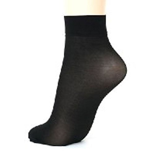TRY ON SOCKS PEDS FOOTIES DISPOSABLE SOX WOMENS MENS set of 100 pair (black color) ()