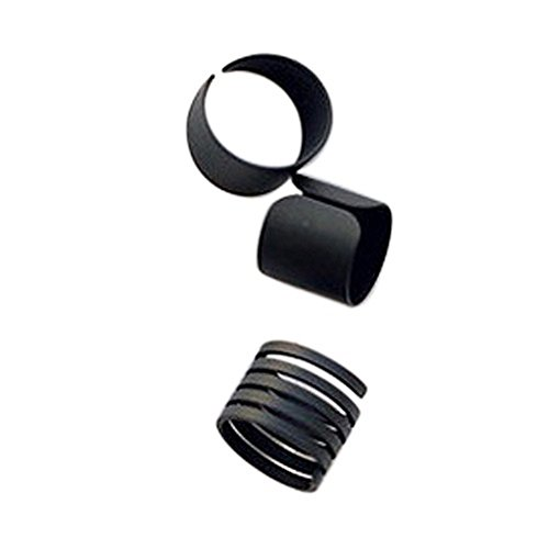 Fuleewoo 3PCS New Jewelry Fashion Punk Black Stack Plain Above Knuckle Ring Set Band Midi