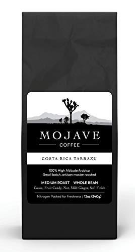Mojave Coffee Costa Rica Tarrazu, Santa Elena Plantation, Single-Origin, Shade-Grown, Small-Batch, Fresh Roasted, Fair Trade, 100% High-Altitude Premium Arabica, Medium Roast 12oz (Whole bean)