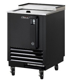 Turbo Air TBC24SB 3 cu. ft. Bottle Cooler with Forced Air Cooling System High Density PU Insulation PE Coated Dividers Efficient Refrigeration System and Stainless Steel Construction: